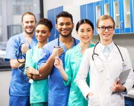 smiling medical workers